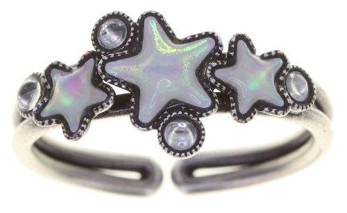 Konplott Sterntaler Ring in weiß 5450543777689