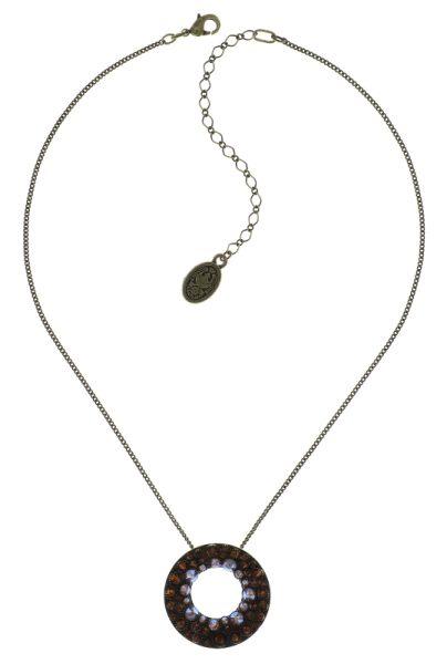 Konplott Inside Out Halskette mit großem Anhänger in braun 5450543641591