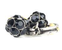 Vorschau: Konplott Disco Balls schwarzer Ring mit 2 Kugeln 5450527598576