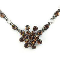 Vorschau: Konplott Magic Fireball Halskette steinbesetzt mit Anhänger in smoked topaz, braun 5450527640114