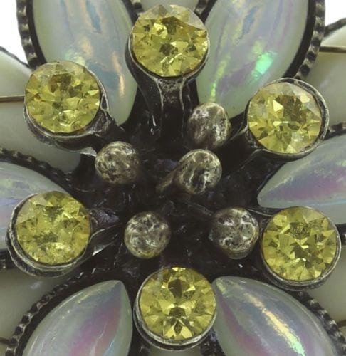 Konplott Psychodahlia Ohrclip in gelb Messing 5450543734750
