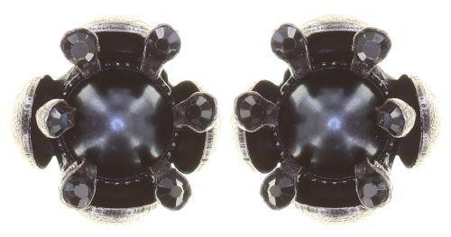 Konplott Petit Fleur de Bloom Ohrstecker in schwarz carbon bloom 5450543799117
