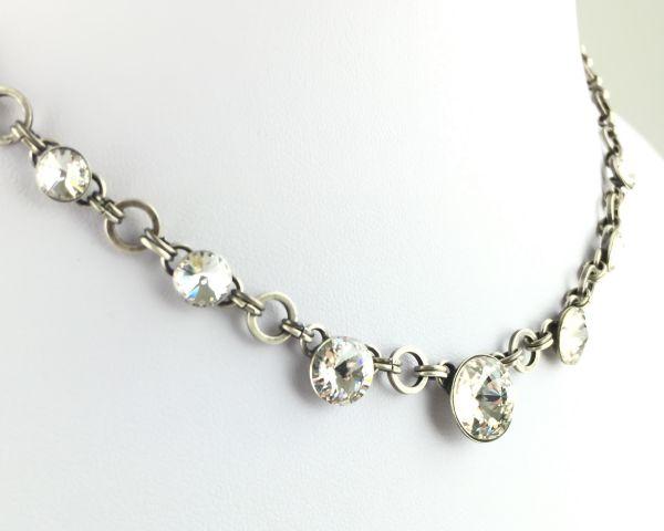Konplott Rivoli crystal weiße Halskette partiell steinbesetzt 5450527558112