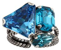 Konplott Mix the Rocks Ring in crystal blau 5450543790237