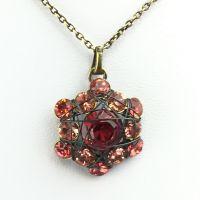 Konplott Bended Lights Halskette mit Anhänger in Koralle/ Rose 5450543040837