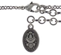 Vorschau: Konplott Rosone Halskette mit Anhänger Größe XL in schwarz 5450543654379