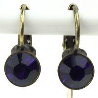 Konplott Black Jack Ohrhänger mit Klappverschluss in purple velvet 5450527612265