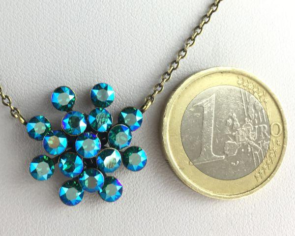 Konplott Magic Fireball blau/grüne Halskette mit Anhänger 5450543631233