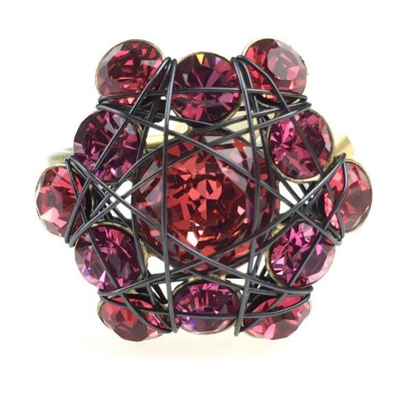 Konplott Bended Lights Ring in Koralle/ Pink 5450527759960