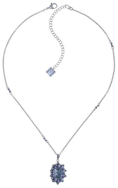 Konplott Kaleidoscope Illusion Halskette mit Anhänger in grau Größe S 5450543761688