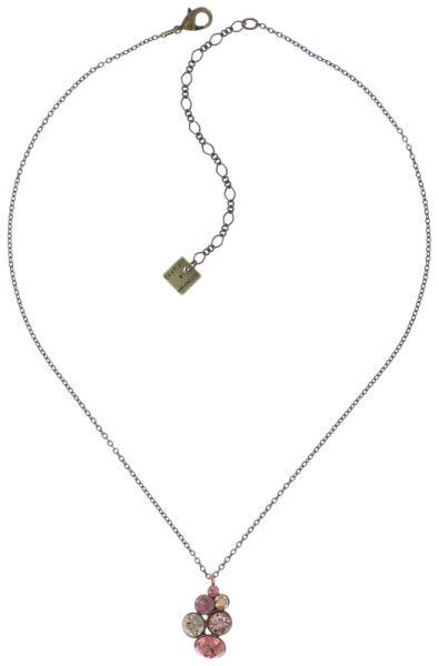 Konplott Petit Glamour Halskette mit Anhänger in pink 5450543766461