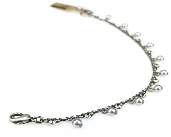 Konplott Pearl Shadow black diamond Armband verschließbar 5450527598842
