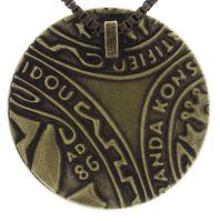 Vorschau: Konplott Studio 54 Halskette mit Anhänger in grün Messing 5450543748146