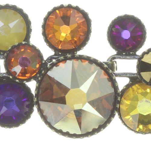 Konplott Water Cascade steinbesetzte Halskette in braun/orange 5450543754390