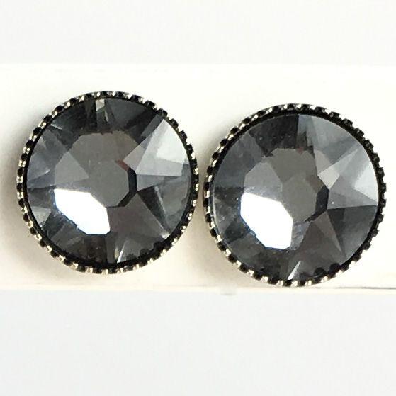 Konplott Black Jack Ohrstecker groß in crystal silver night, kristall schwarz 5450527778404