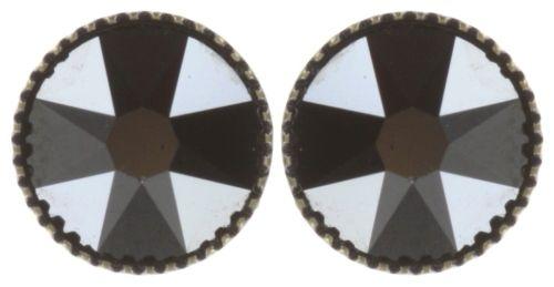 Konplott Black Jack Ohrstecker groß in schwarz jet hematite 5450543787626