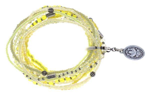 Konplott Petit Glamour d'Afrique Armband in gelb antique 5450543856728