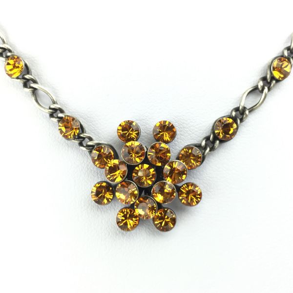 Konplott Magic Fireball Halskette steinbesetzt mit Anhänger in topaz 5450527640510