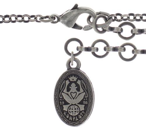 Konplott Rosone Halskette mit Anhänger Größe XL in schwarz 5450543654379