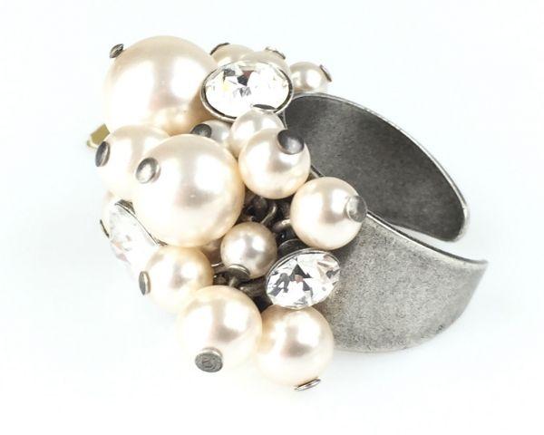 Konplott Pearl Shadow crystal Ring 5450527444583
