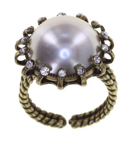 Konplott Ring in weiß - Where the Lilac Bloom 5450543896441