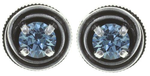Konplott Cages Ohrstecker in blau Silberfarben 5450527646680