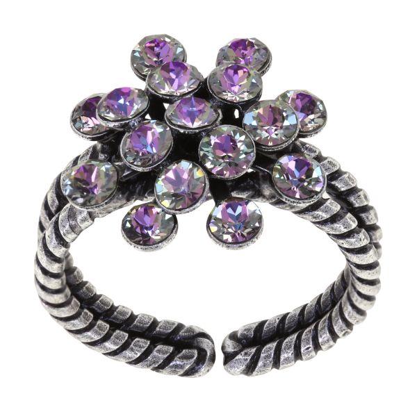 Konplott Magic Fireball Ring in white/light rose crystal vitrail light mini 5450543915159
