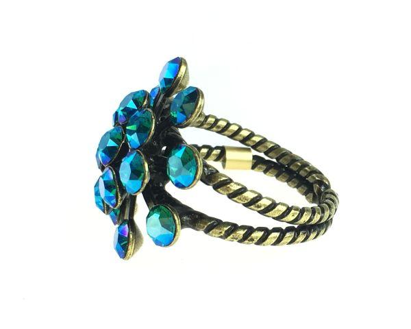 Konplott Magic Fireball blau/grüner Ring 5450543631288