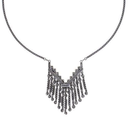 Konplott Graphic Flow Halskette in weiß antique 5450543867373
