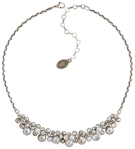 Konplott Water Cascade Halskette Collier in weiß antik silber 5450543686141