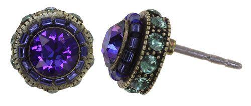 Konplott African Glam Ohrstecker in blau/grün 5450543889245