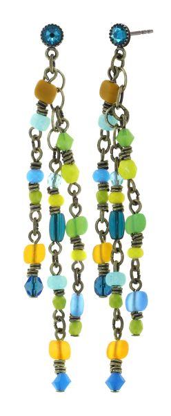 Konplott Petit Glamour d'Afrique Ohrhänger in blau/gelb 5450543913735