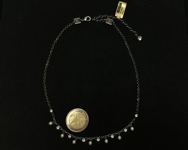 Konplott Pearl Shadow crystal Halskette partiell steinbesetzt 5450527598897
