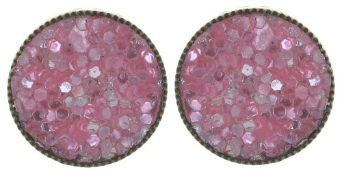Konplott Studio 54 Ohrstecker in pink Messing 5450543748825