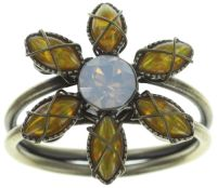 Konplott Psychodahlia Ring in gelb Messing 5450543734088
