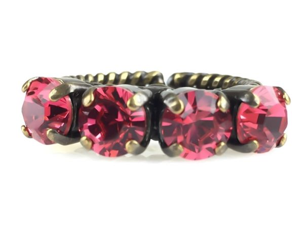 Konplott Colour Snake Ring in Indian Pink, pink/rot 5450527612357