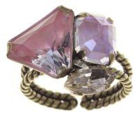 Vorschau: Konplott Mix the Rocks Ring in rosa crystal blush 5450543790633