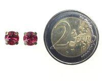 Vorschau: Konplott Black Jack Ohrstecker eckig in indian pink, pink/rot 5450527612333