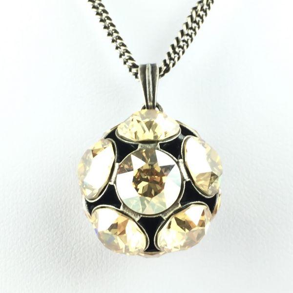 Disco Balls crystal golden shadow Halskette lang mit Anhänger L