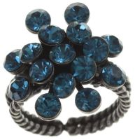 Konplott Magic Fireball 16 Stein Ring in indicolite, blau 5450527640237