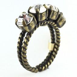 """Konplott """"Colour Snake"""" Ring in Crystal"""