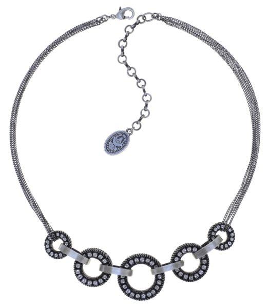 Konplott Rock 'n' Glam Halskette in crystal weiß 5450543776965