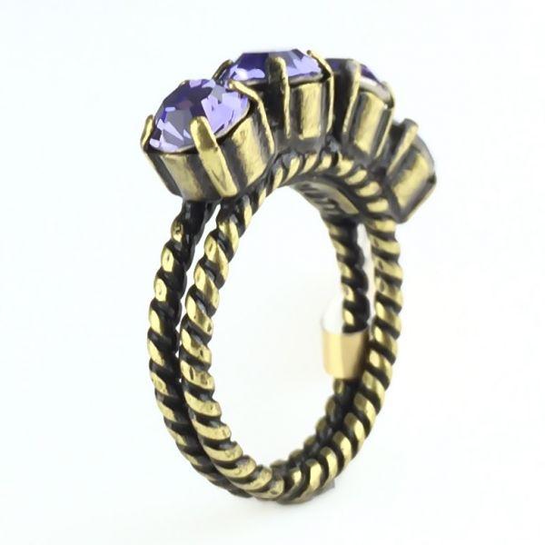 Colour Snake Ring in Tanzanite, violett