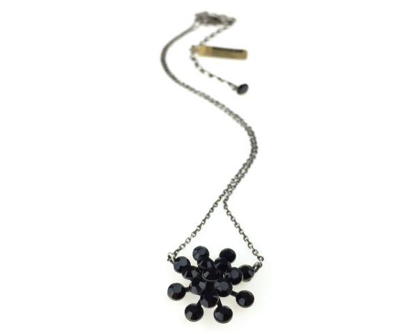 Konplott Magic Fireball Halskette mit Anhänger in jet, schwarz 5450527612173