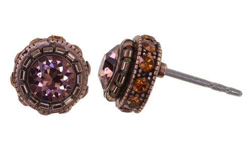 Konplott African Glam Ohrstecker in pink 5450543889337