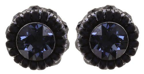 Konplott African Glam Ohrstecker in schwarz 5450543889153