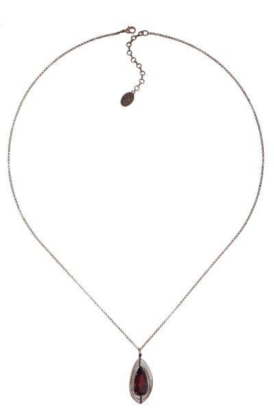 Konplott Amazonia lange Halskette mit Anhänger in rot, Größe L 5450543753300