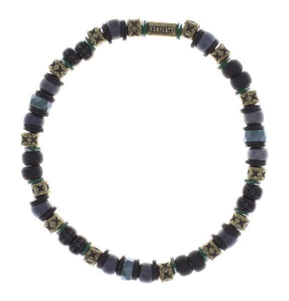 Konplott Urban Scuba Armband elastisch in schwarz antique 5450543868905