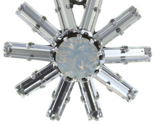 Konplott Spider Daisy Ohrclip hängend in weiß Größe L 5450543735788