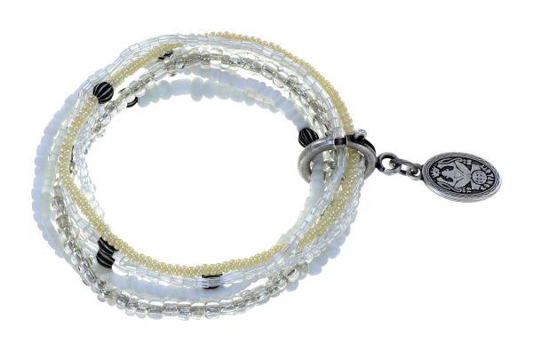 Konplott Petit Glamour d'Afrique Armband in weiß 5450543914060